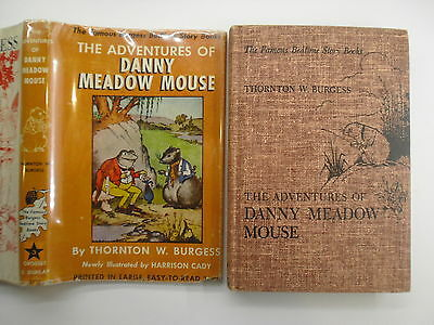 Adventures of Danny Meadow Mouse, Thornton Burgess, Bedtime Story Book, DJ