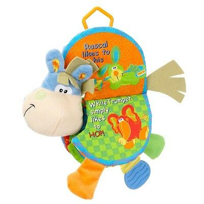 Baby Bed Stroller Hanging Cloth Animal Book Teether Baby Educational Sound Toy