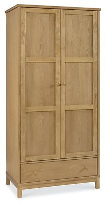 Oceanus Wooden Bedroom Furniture Double Wardrobe Natural Oak