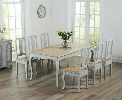 Adele French Painted Dining Room Furniture Dining Chair GREY (Pair of)