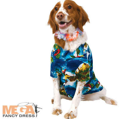 Luau Dog Fancy Dress Animal Funny Tropical Hula Hawaiian Puppy Pet Costume New