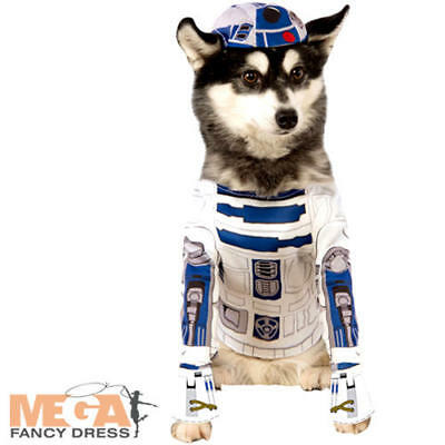 R2-D2 Dog Fancy Dress Star Wars Sci Fi Movie Robot Animal Halloween Pets Costume