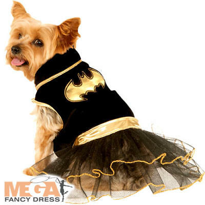 Batgirl Dog Fancy Dress Halloween Superhero Bat Man Comic Book Puppy Pet Costume