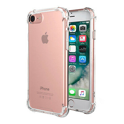 Hybrid Slim Shockproof Soft TPU Bumper Clear Case Cover For iPhone 5 6 6S 7 Plus