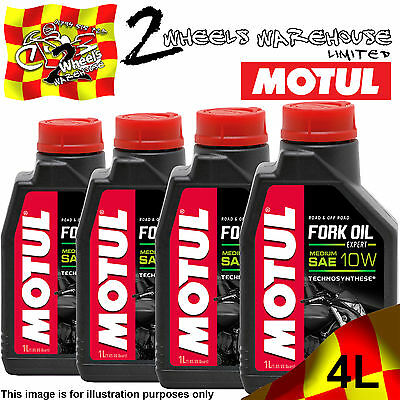1L 2L 3L 4L Motul Fork Oil Expert Medium 10W Semi Synthetic Hydrualic Suspension