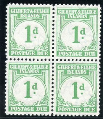 Gilbert & Ellice Is 1940 KGVI Postage Due 1d emerald-green MNH. SG D1. Sc J1.