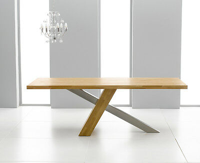 New York solid oak modern furniture large dining table