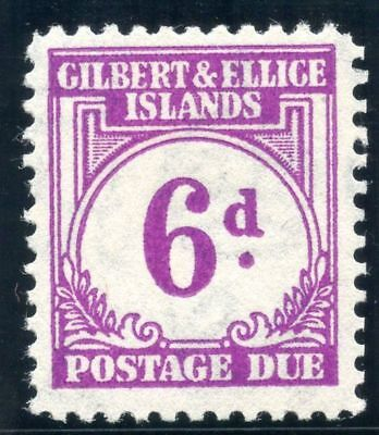 Gilbert & Ellice Is 1940 KGVI Postage Due 6d purple MLH. SG D6. Sc J6.