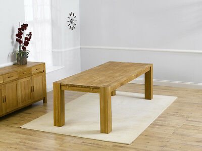 Texas solid oak furniture large 12 seater extending dining table