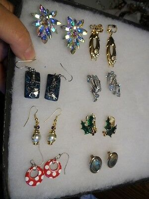 Vintage mix color/style earring lot #7488 Coro