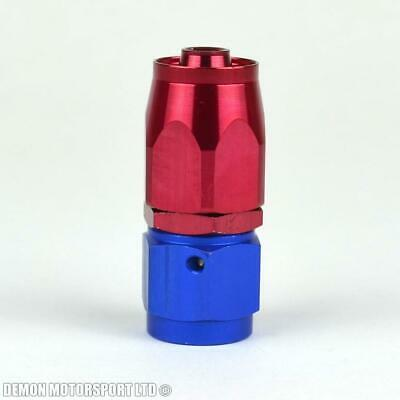 AN -6 (AN6) Straight Red / Blue Hose Fitting For Braided And Nylon Fuel Hose New