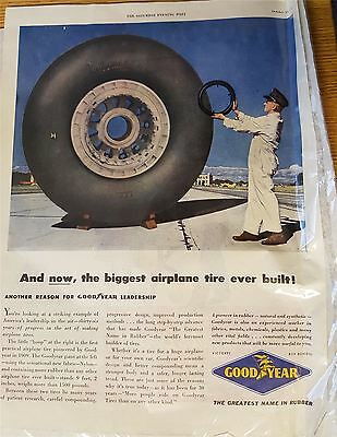 Goodyear Tyres 1945 Advertising Print
