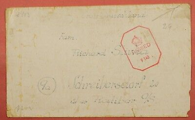 1944 Great Britain German Pow Prisoner Of War Censored Cover To Germany