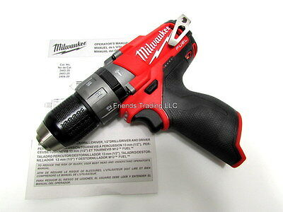 Milwaukee M12 12V 12 Volt Brushless Fuel Hammerdrill Driver Drill 2404-20 NEW