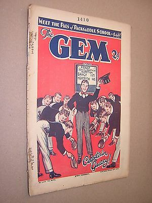 THE GEM. FEB 23rd 1935. SCHOOLBOY'S PAPER. COMIC. TOM MERRY OF ST. JIM'S etc.