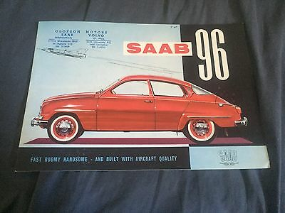 1961 SAAB 96 Color Brochure Catalog Prospekt