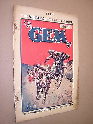 THE GEM. MAR 16th 1935. SCHOOLBOY'S PAPER. COMIC. TOM MERRY OF ST. JIM'S etc.