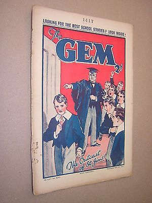 THE GEM. APR 13th 1935. SCHOOLBOY'S PAPER. COMIC. TOM MERRY OF ST. JIM'S etc.