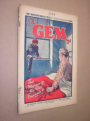 THE GEM. APR 6th 1935. SCHOOLBOY'S PAPER. COMIC. TOM MERRY OF ST. JIM'S etc.