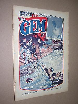 THE GEM. JUNE 22nd 1929. SCHOOLBOY'S PAPER. COMIC. TOM MERRY OF ST. JIM'S etc.