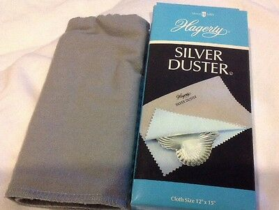 "HAGERTY SILVER DUSTER CLEANING CLOTH SZ 12"" x 15"" NIB NEW POLISHES CLEANS SHINES"