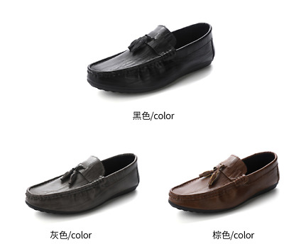 Fashion Mens Breathable Slip On Driving Moccasins Loafers Hemp Gommino Shoes Hot