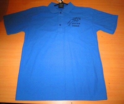 Personalised Embroidered Shirt with your choice of Horse Design in Royal blue