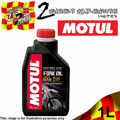 1x 1L MOTUL FACTORY LINE 5W LIGHT FORK FULLY SYNTHETIC SUSPENSION HYDRAULIC OIL