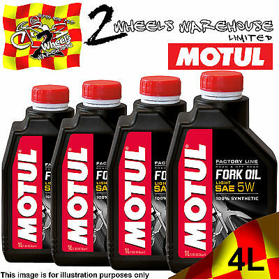 4x 1L MOTUL FACTORY LINE 5W LIGHT FORK FULLY SYNTHETIC SUSPENSION HYDRAULIC OIL