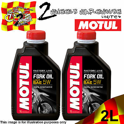 2x 1L MOTUL FACTORY LINE 5W LIGHT FORK FULLY SYNTHETIC SUSPENSION HYDRAULIC OIL
