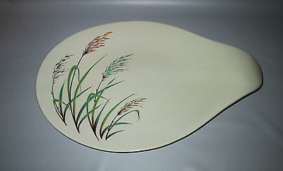 "Hall China Modern Craft Sweet Grass Platter 15"" Eva Zeisel Tomorrow's Classic"