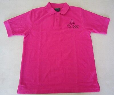 Personalised Embroidered Kid's Shirt in PINK with your choice of Horse Design