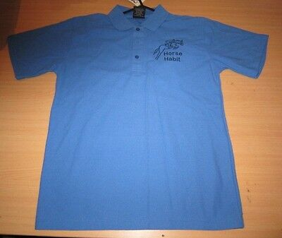 Personalised Embroidered Shirt with your choice of Horse Design in Mid blue