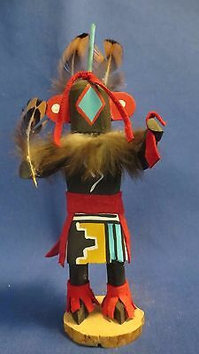 Navajo Hand Crafted Chasing Star Kachina Doll Wood & Leather by Bertha Chavez