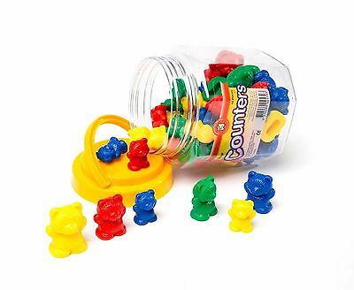 48 Bear Counters Sorting Counting Maths Games 4 colours 3 sizes 3 weights