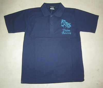 Personalised Embroidered Kid's Shirt in NAVY BLUE your choice of Horse Design