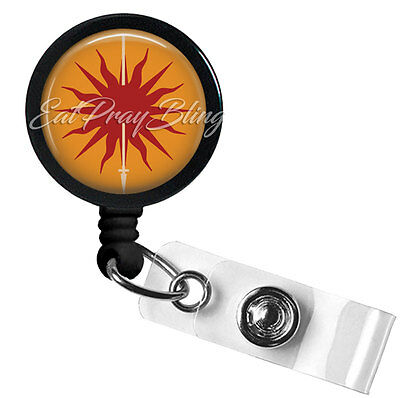 Retractable Badge Reel Name Tag ID Pull Clip Holder Lanyard Game of Thrones Sun