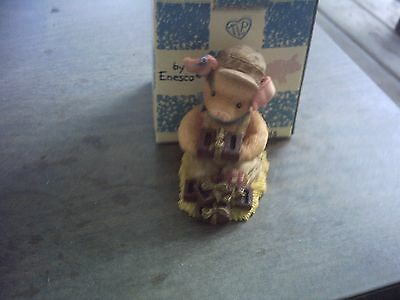 1996 This Little Piggy Stacked In Our Favor Figurine With Box