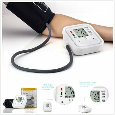 Fully Automatic Arm Style Electronic Blood Pressure Monitor Micro USB 3A Battery