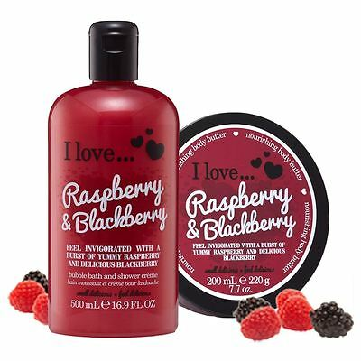 I Love… Blackberry & Raspberry Shower Gel and Body Butter Duo Pack