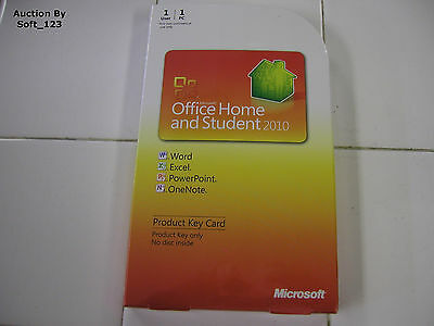 MS Microsoft Office 2010 Home and Student Product Key Card (PKC) =RETAIL BOX=