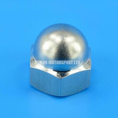 M12 x 1.5 Dome Head Blanking Cap / Check Valve Nut (Stainless) For Bosch 044 etc