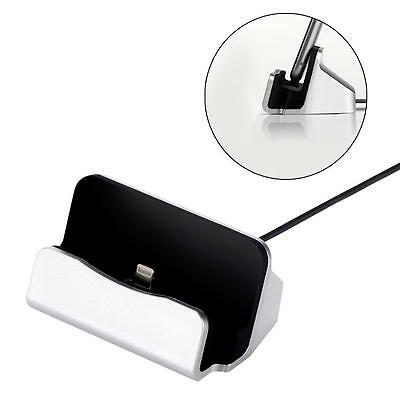 Silver Charger Docking Station Sync Charger Stand Cradle for iPhone 5/5S/6s BC