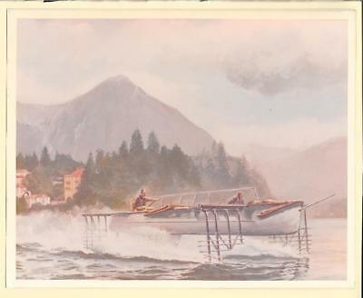 1911 Italian Hydrofoil by Forlanini 8x10 Modern Reproduction Photo of Painting