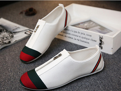 New Fashion Mens Leather Comfort Breathable Slip On Loafers Casual Driving Shoes