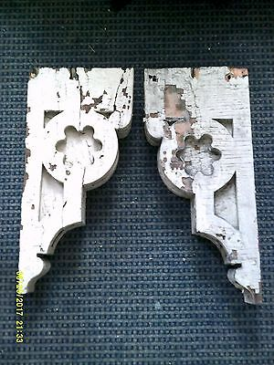 Large Pair / 1882 Antique/Vintage Architectural Salvage Church Corbels