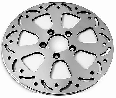 For Harley Rev Tech Airfoil Polished 11 5 Rear Brake Rotor