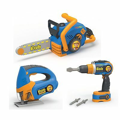 Smoby 360137 Bob The Builder 3 Tool Set Toy Drill New Free Post