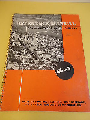 1939 Barrett Roofing Reference Manual Architects & Engineers Cut Away Diagrams