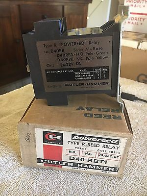 New Cutler Hammer D40 Rbt1 Type R Reed Relay 24/28 V. Dc